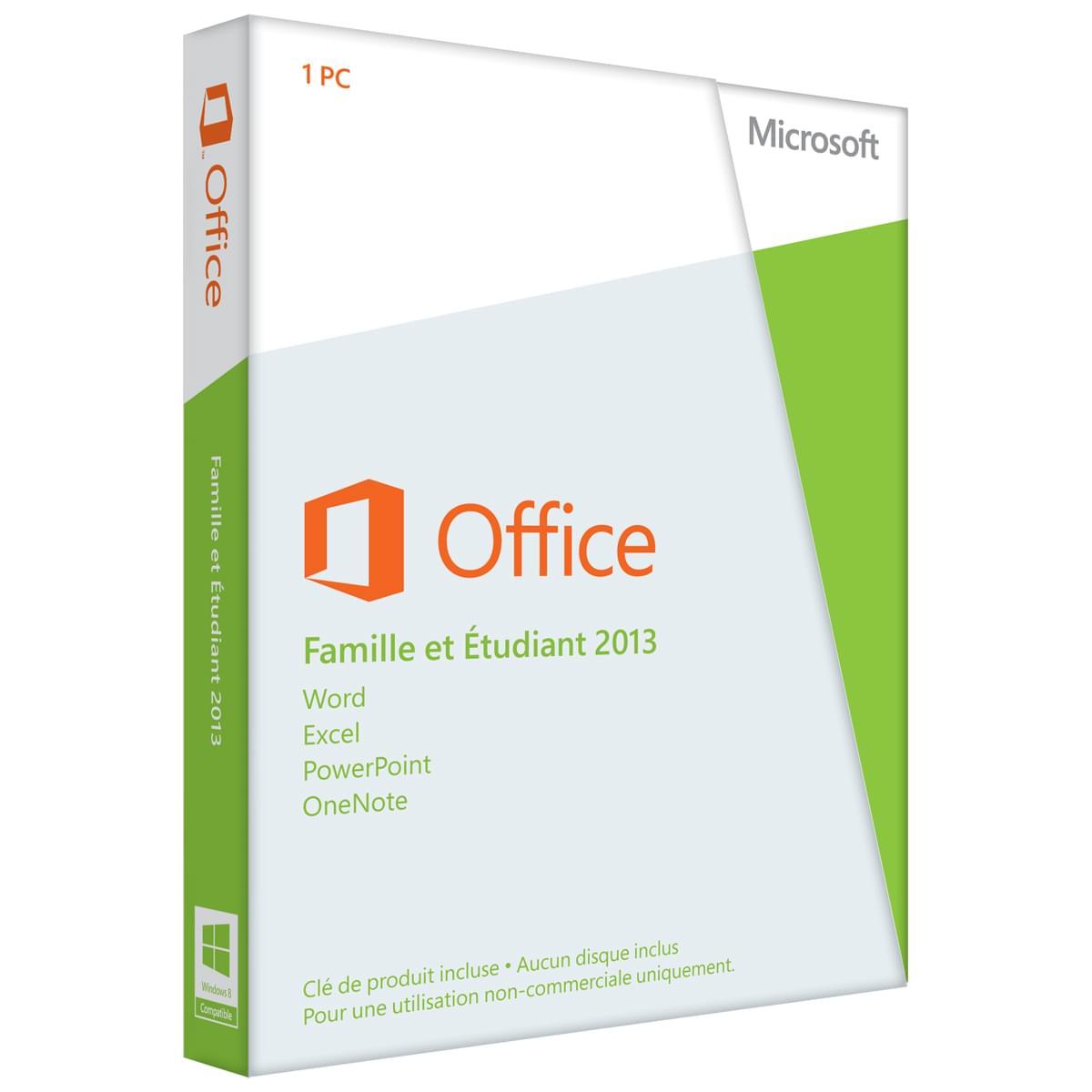 Microsoft Office Famille/Etudiant 2013 COEM (79G-03603) - Achat / Vente Logiciel suite bureautique sur Cybertek.fr - 0