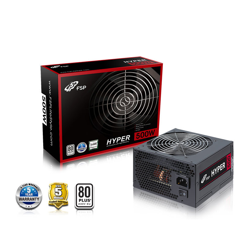 Alimentation PC Fortron (FSP) ATX 500 Watts - Hyper 500S 80+ - 0