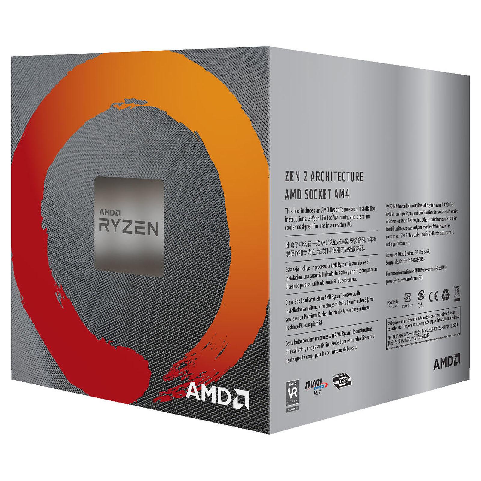 AMD Ryzen 5 3600X - 4.4GHz - Processeur AMD - Cybertek.fr - 1
