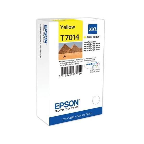 Epson Cartouche d'encre Jaune XXL T7014 (C13T70144010) - Achat / Vente Consommable Imprimante sur Cybertek.fr - 0