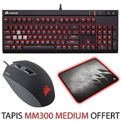 Corsair Offre groupée Strafe MX RED + KATAR + MM300 Medium Offert Cybertek