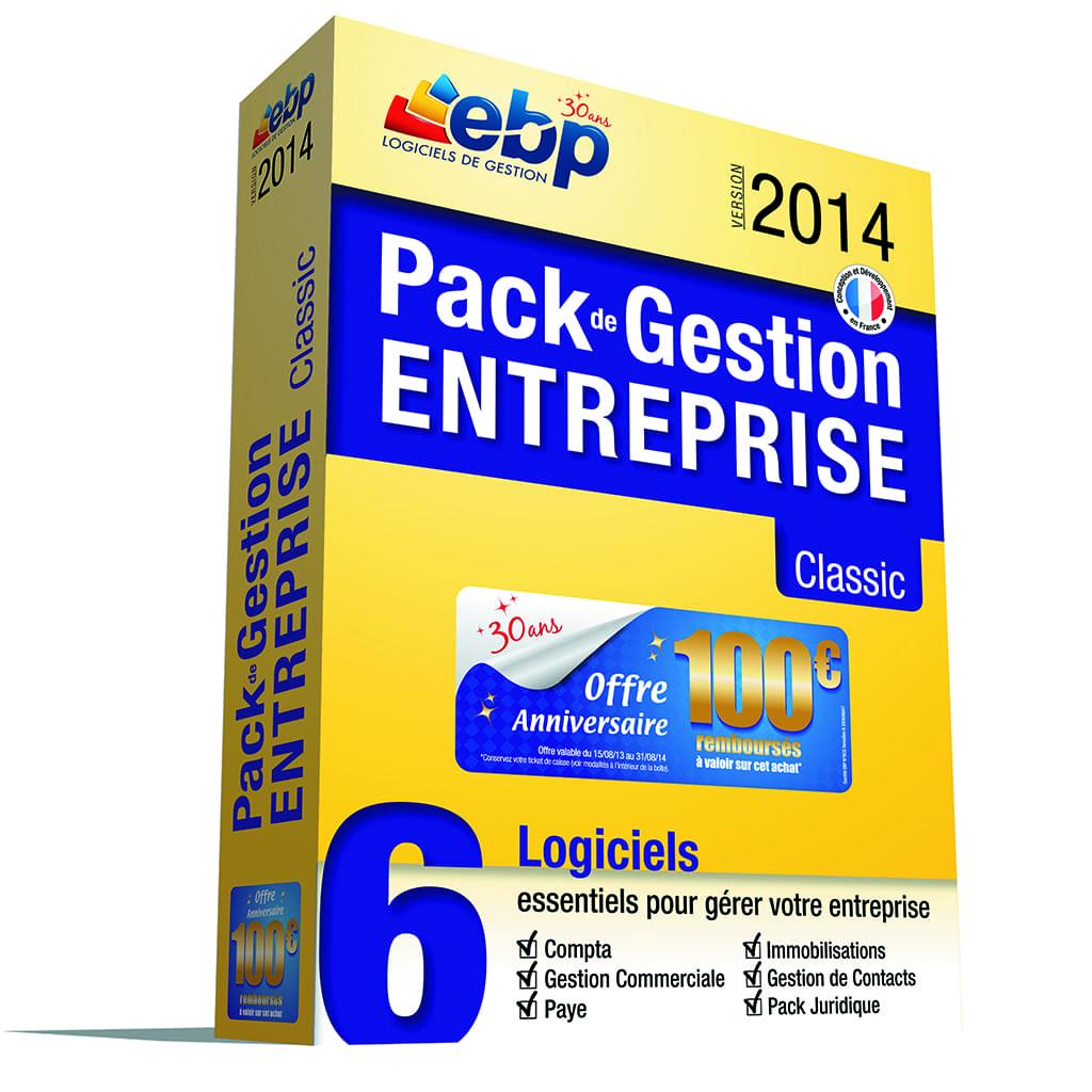 EBP Pack de Gestion Entreprise Classic 2014 (1119J060FAB) - Achat / Vente Logiciel application sur Cybertek.fr - 0