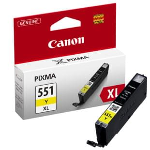 Consommable imprimante Canon CLI-551Y Jaune XL - 6446B001