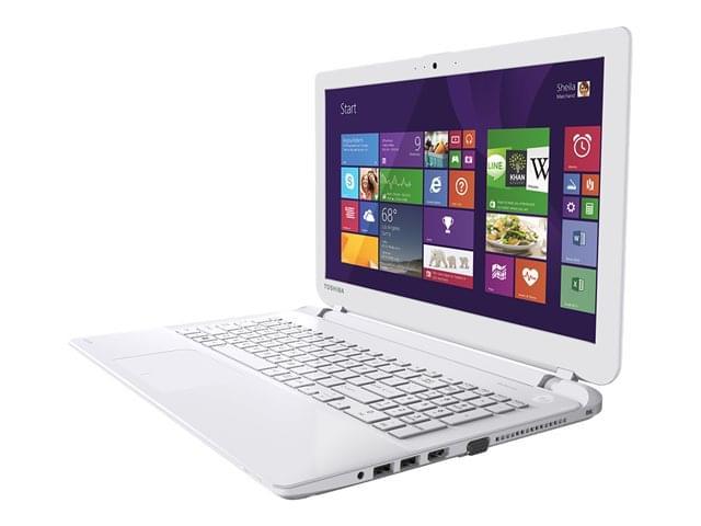 Toshiba L50-B-117 Blanc (PSKSQE-00N00NFR) - Achat / Vente PC Portable sur Cybertek.fr - 0