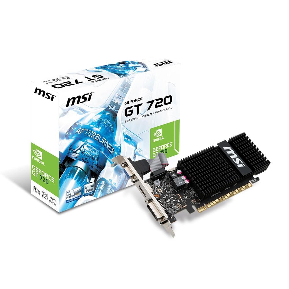 MSI N720-2GD3HLP (N720-2GD3HLP) - Achat / Vente Carte Graphique sur Cybertek.fr - 0
