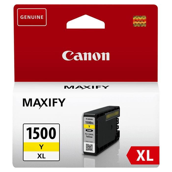 Cartouche PGI-1500XL Jaune - 9195B001 pour imprimante Jet d'encre Canon - 0