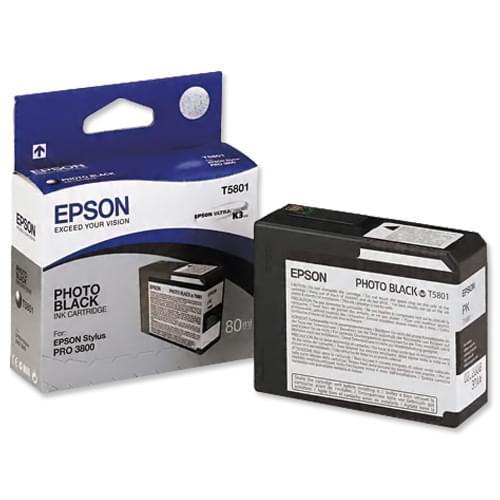Epson Cartouche Noir T580100 (C13T580100) - Achat / Vente Consommable Imprimante sur Cybertek.fr - 0