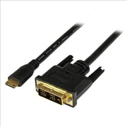 StarTech Connectique TV/Hifi/Video Câble mini HDMI vers DVI-D M/M - 1m Cybertek