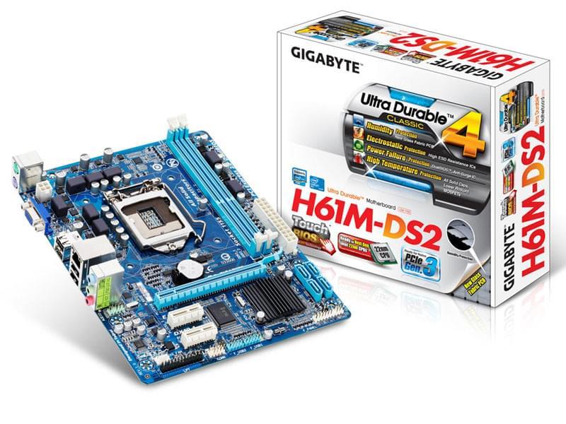 Gigabyte H61M-DS2 (H61M-DS2) - Achat / Vente Carte mère sur Cybertek.fr - 0
