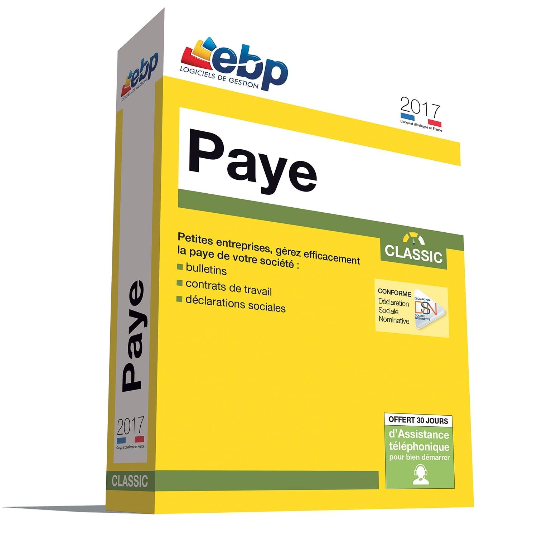 EBP Paye Classic 2017 (1025J090FAA) - Achat / Vente Logiciel Application sur Cybertek.fr - 0