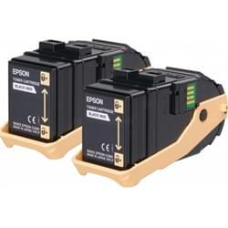 Pack de 2 Toner Noir - C13S050609 pour imprimante Laser Epson - 0