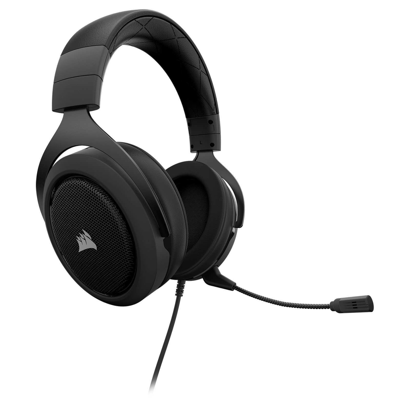 Corsair HS50 Stereo Gaming Headset Carbon Stereo - Micro-casque - 0