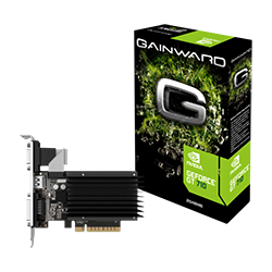 image produit Gainward GT 710 2GB Silent FX - GT710/2Go/VGA/DVI/HDMI Cybertek