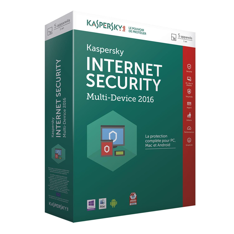 Kaspersky Internet Security 2016 Boite (KL1941FBEFS-6 fdv) - Achat / Vente Logiciel sécurité sur Cybertek.fr - 0