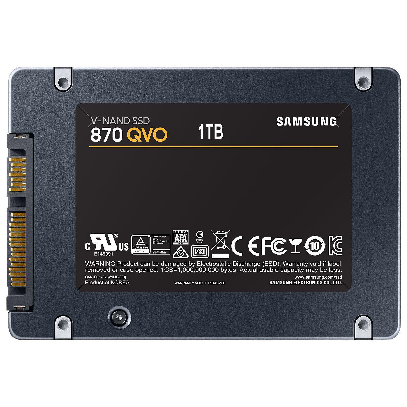 Samsung 870 QVO 960Go-1To SATA III - Disque SSD Samsung - 1