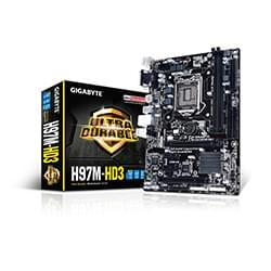 Gigabyte Carte Mère H97M-HD3 - H97/LGA1150/DDR3/mATX Cybertek