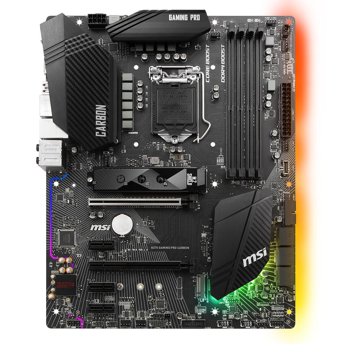 MSI H370 GAMING PRO CARBON ATX DDR4 - Carte mère MSI - Cybertek.fr - 4