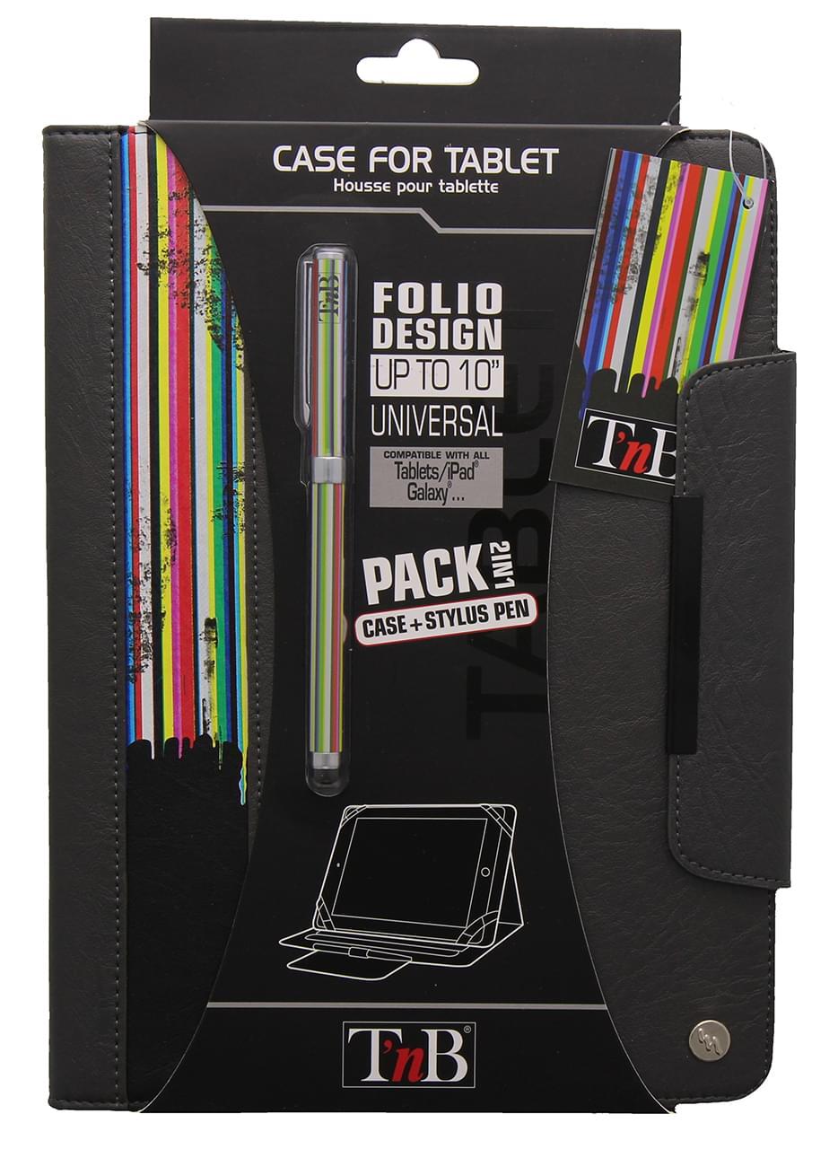 """T'nB Bundle Folio Rainbow Etui universel 10""""+Stylet (BUNTABRB) - Achat / Vente Accessoire tablette sur Cybertek.fr - 0"""
