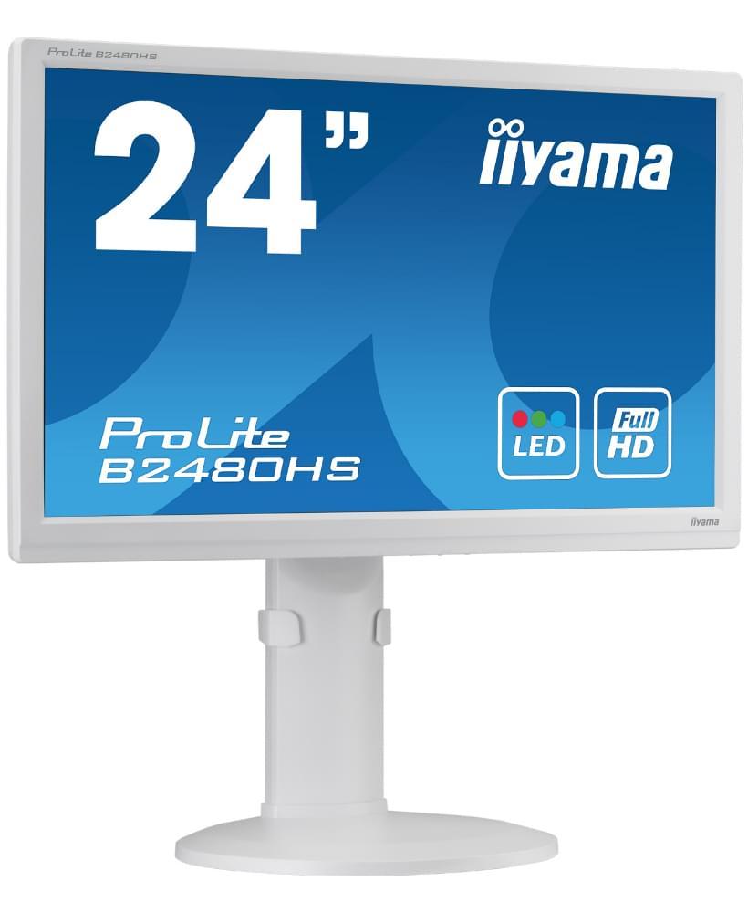 Iiyama B2480HS-W1 (B2480HS-W1) - Achat / Vente Ecran PC sur Cybertek.fr - 0