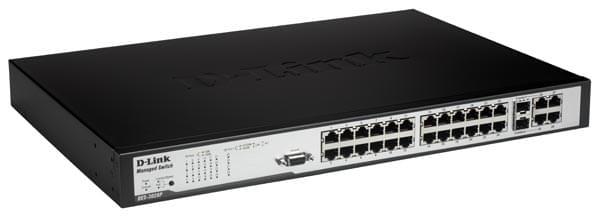 D-Link 24 Ports 10/100 +2x1000 + 2SFP 1U POE (DES-3028P) - Achat / Vente Switch sur Cybertek.fr - 0
