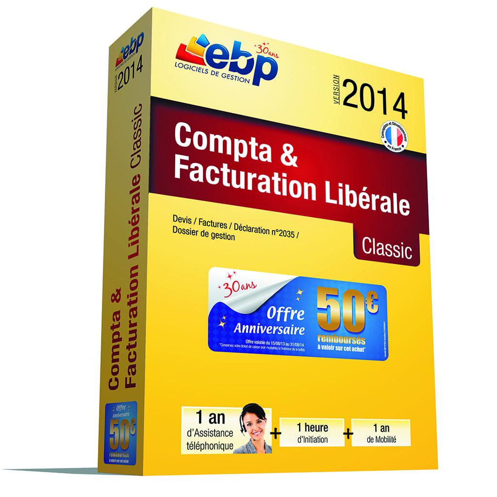 EBP Compta et Facturation Libérale OL 2014 + Serv. VIP (1161J061FAB) - Achat / Vente Logiciel Application sur Cybertek.fr - 0