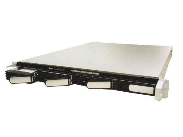 "Synology NAS RJ45 512Mo/4x3.5"" SATA/RAID/serv.Impr RS-408 (RS-408) - Achat / Vente Boîtier externe sur Cybertek.fr - 0"