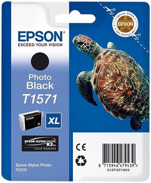 Epson Cartouche T1571 Noir (C13T15714010) - Achat / Vente Consommable Imprimante sur Cybertek.fr - 0