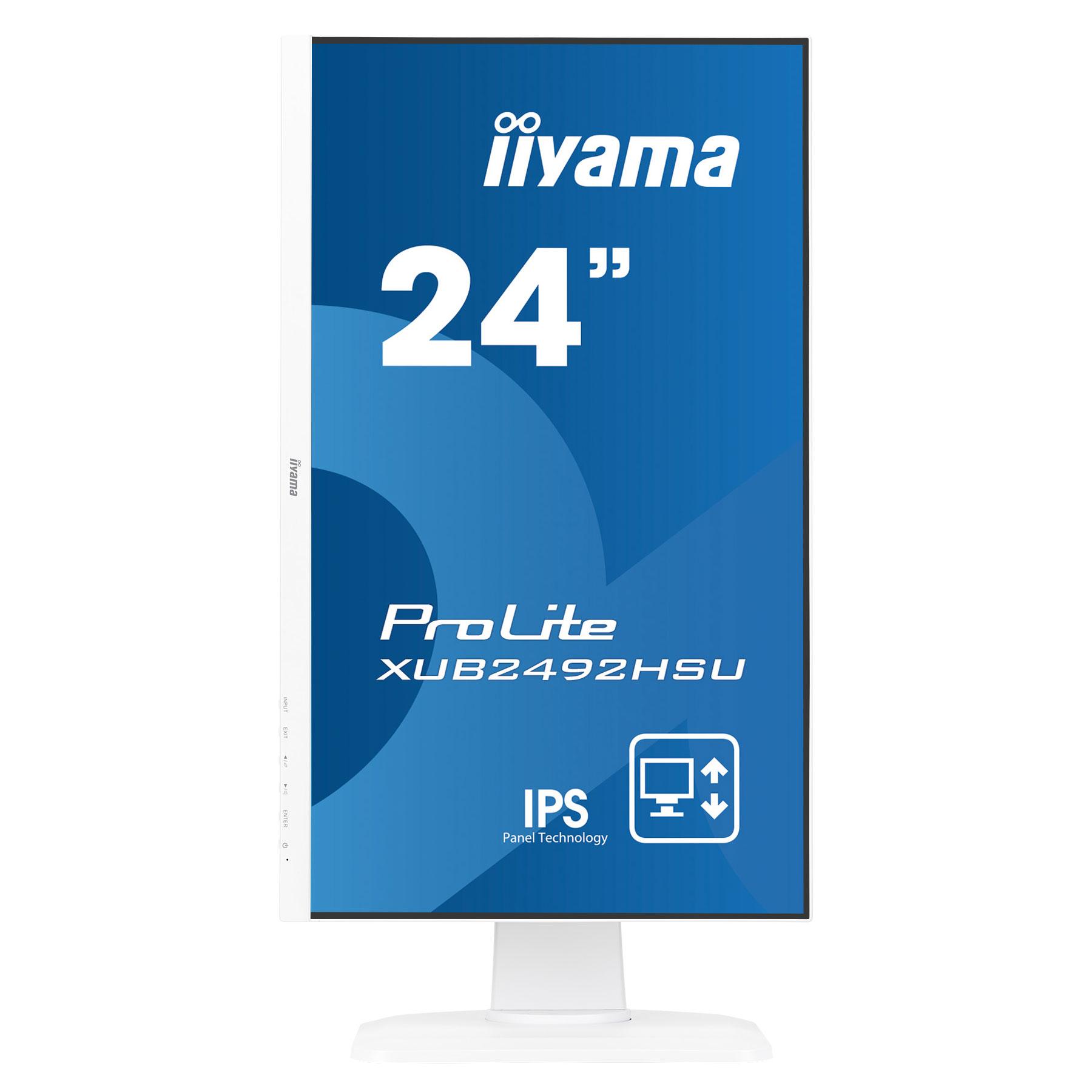 """Iiyama 24""""  XUB2492HSU-W1 - Ecran PC Iiyama - Cybertek.fr - 1"""