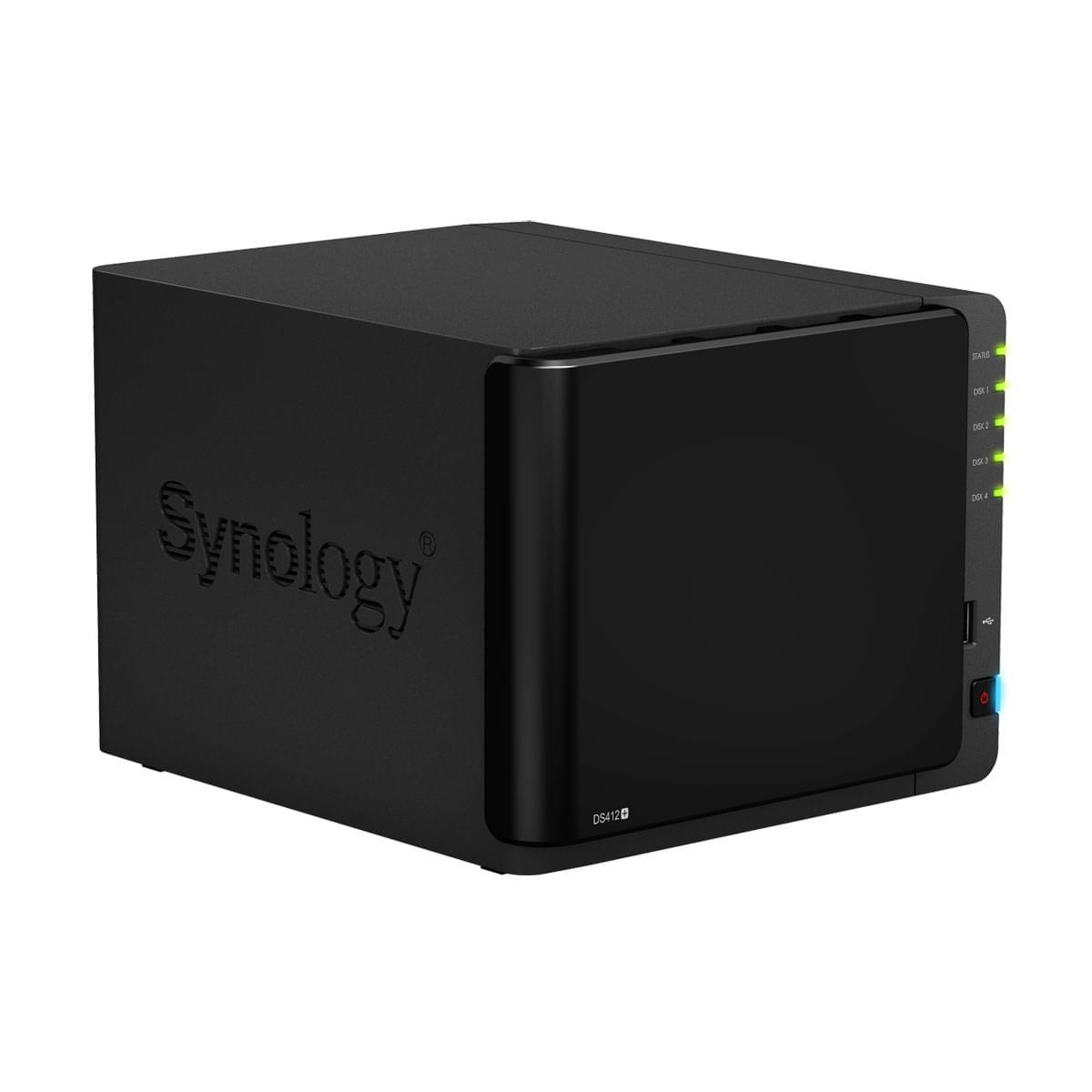 Synology NAS RJ45 (DS412+) - Achat / Vente Boîtier externe sur Cybertek.fr - 0