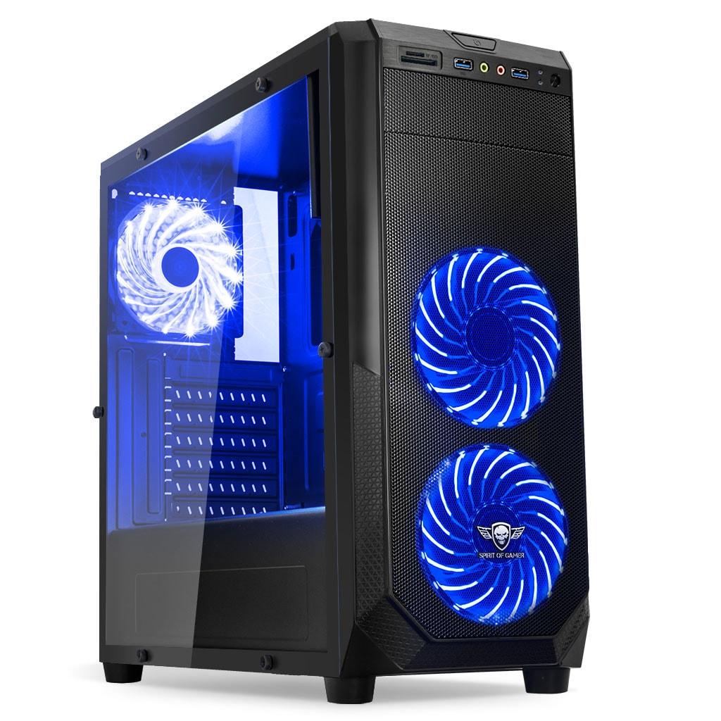 Spirit Of Gamer ROGUE I BLUE Noir - Boîtier PC Spirit Of Gamer - 0
