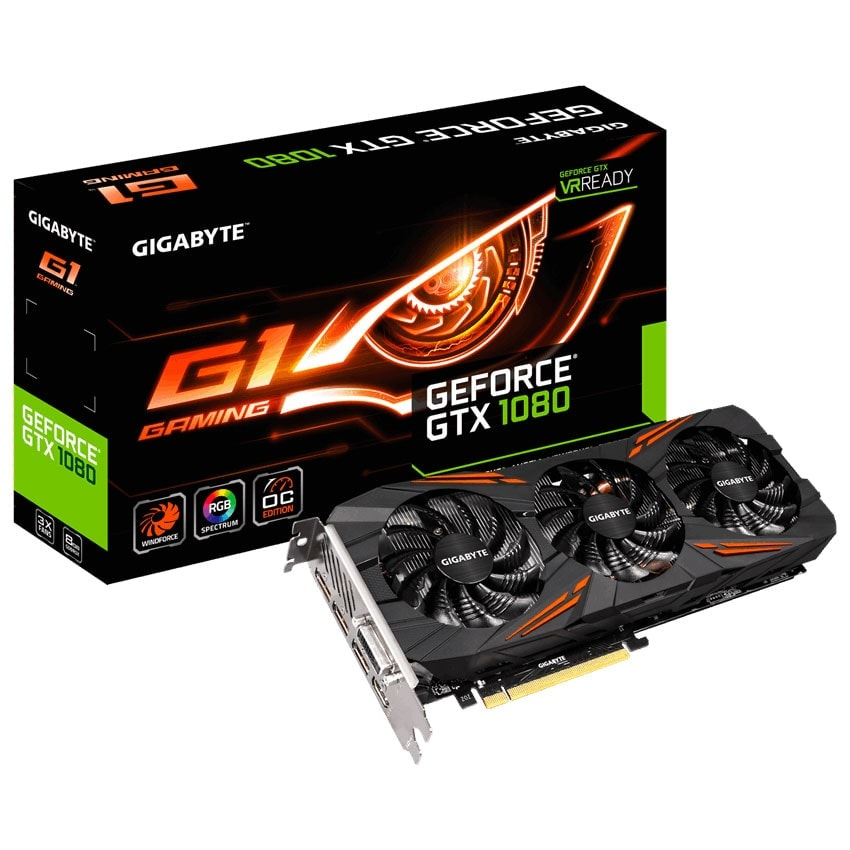 Gigabyte GeForce GTX1080 G1 Gaming-8GD (GV-N1080G1 GAMING-8GD ) - Achat / Vente Carte Graphique sur Cybertek.fr - 0