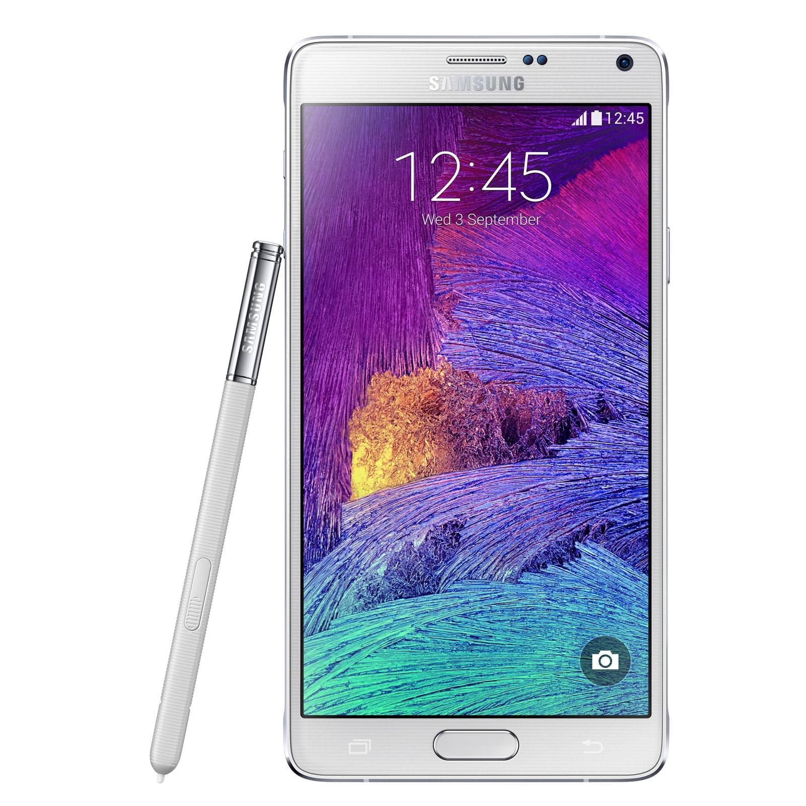 Samsung Galaxy Note 4 32Go N910C White (SM-N910FZWEXEF) - Achat / Vente Téléphonie sur Cybertek.fr - 0