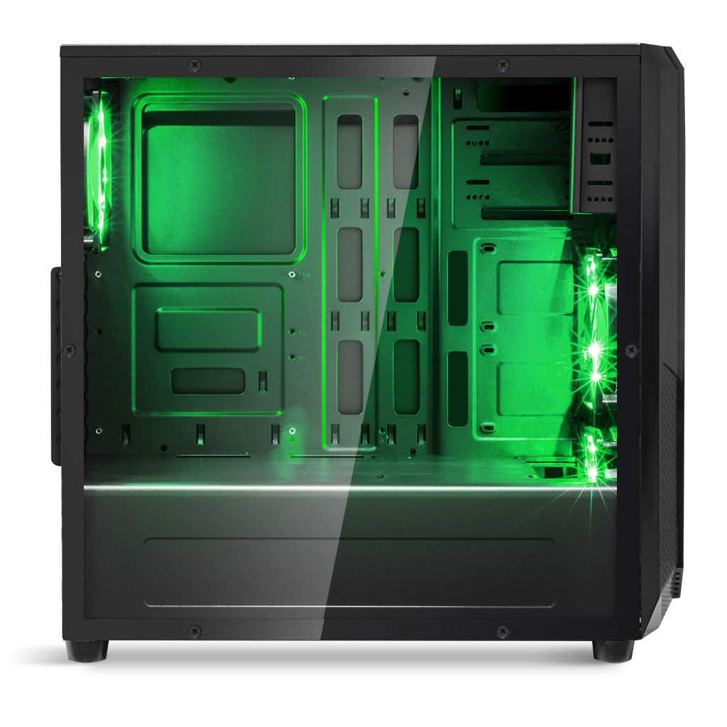 S.O.G ROGUE I GREEN Noir - Boîtier PC S.O.G - Cybertek.fr - 2