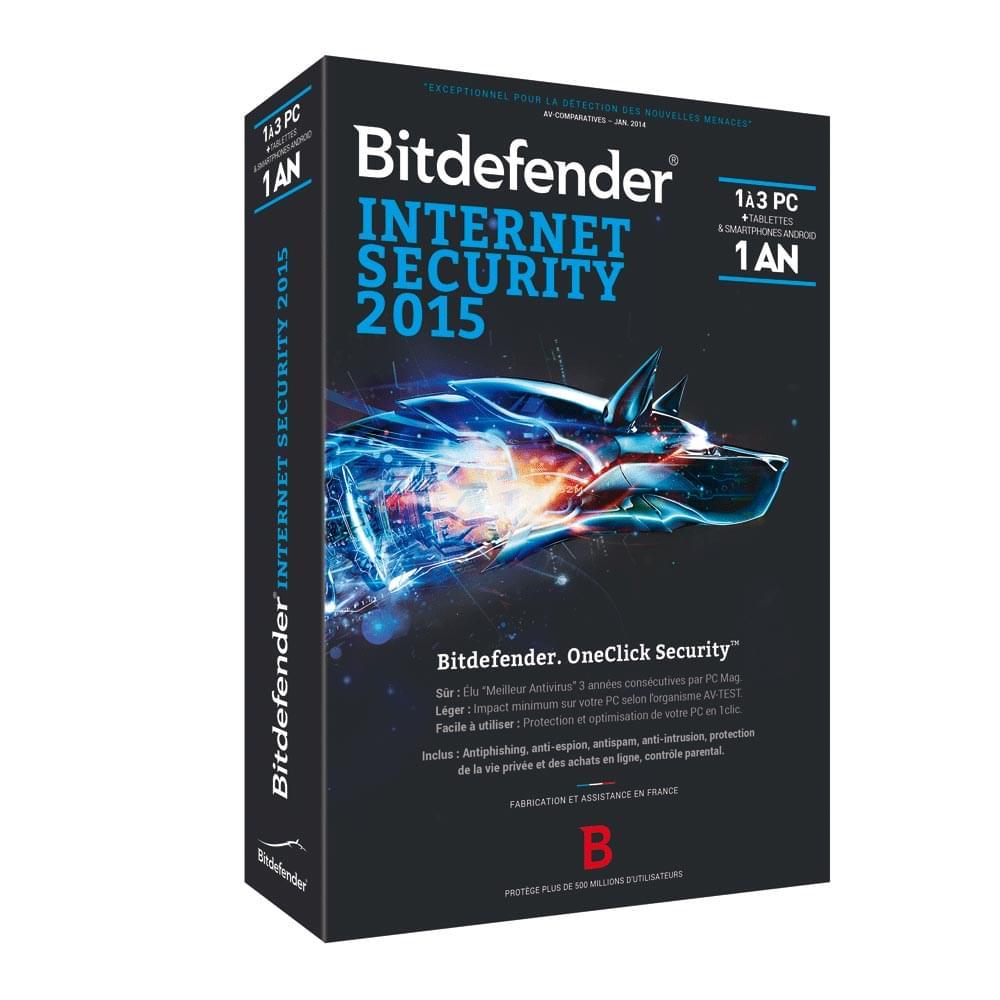 Bitdefender Internet Security 2015 - 1 An / 3 PC - Logiciel sécurité - 0