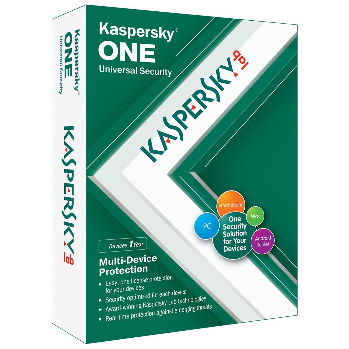 Kaspersky ONE (KL1931FBEFS) - Achat / Vente Logiciel sécurité sur Cybertek.fr - 0