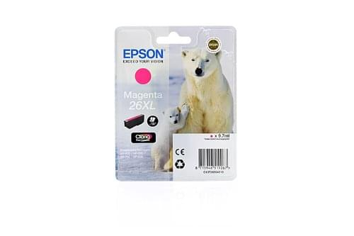 Cartouche d'encre Magenta 26XL - T2633 pour imprimante  Epson - 0