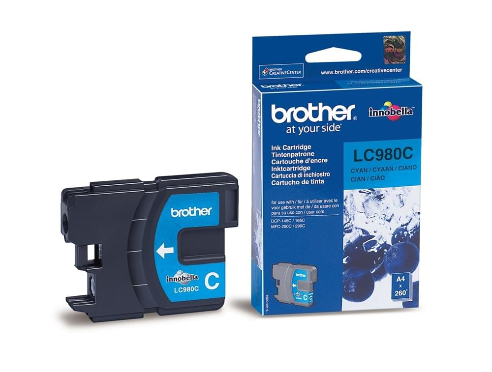 Consommable imprimante Brother Cartouche LC980C Cyan