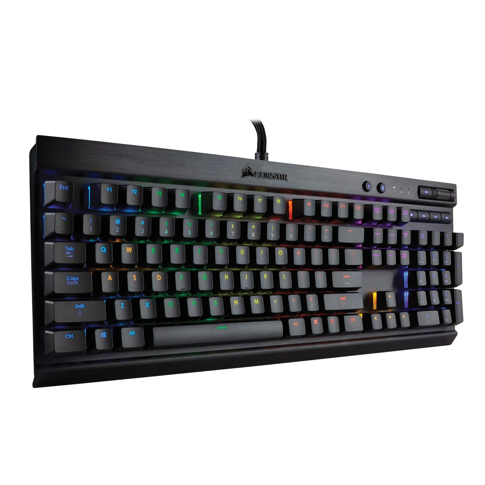 Corsair K70 RGB LED Mechanical MX RED CH-9000118-FR (CH-9000118-FR) - Achat / Vente Clavier PC sur Cybertek.fr - 1