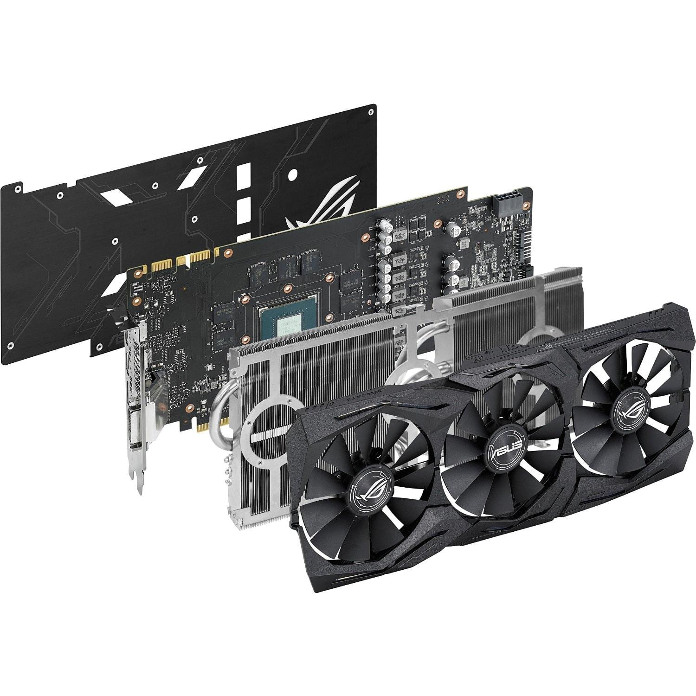 Asus GeForce STRIX-GTX1070-O8G-GAMING  (90YV09N0M0NA00) - Achat / Vente Carte Graphique sur Cybertek.fr - 3