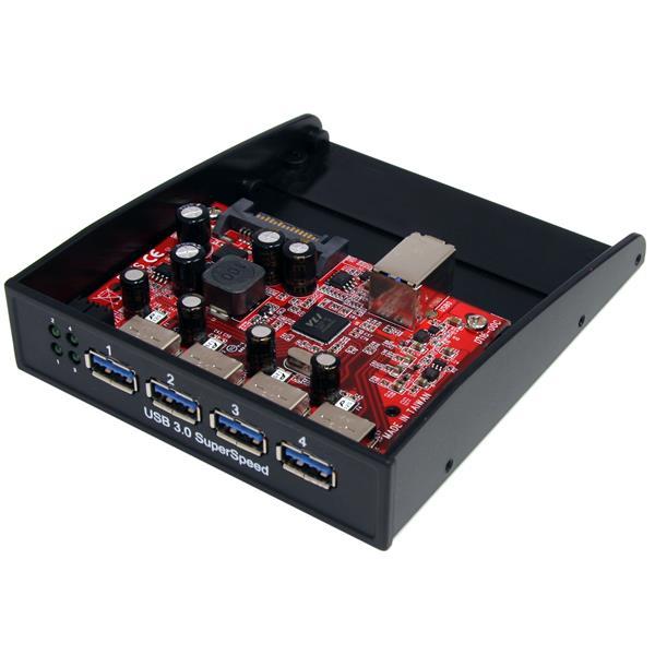 """StarTech HUB 4 ports USB3.0 pour Baie 3,5"""" - 35BAYUSB3S4 - Accessoire boîtier - 0"""