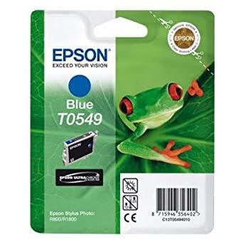 Cartouche T0549 Stylus R800 Blue pour imprimante Jet d'encre Epson - 0