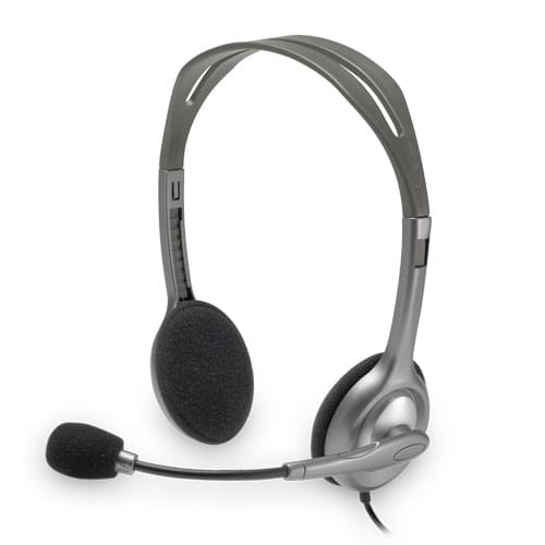 Logitech Stereo Headset H110 Stereo Gris - Micro-casque - 0