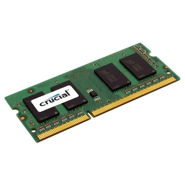 Crucial SO-DIMM 8Go DDR3 1600 1.35/1.5V CT102464BF160B SO-DDR3 - Mémoire PC portable - 0