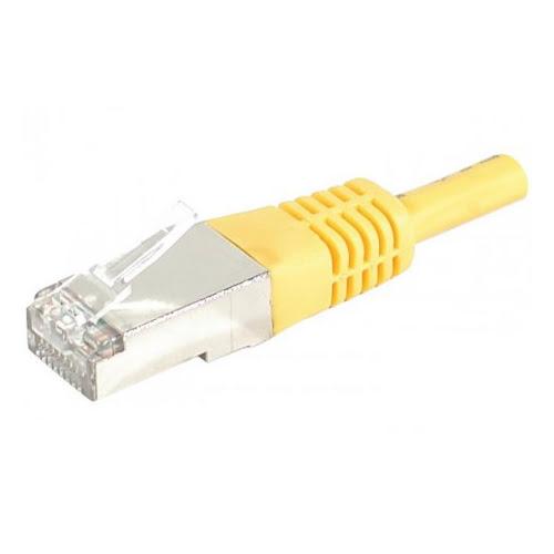 RJ45 Cat6 S/FTP Jaune - 0,15m - Connectique réseau - Cybertek.fr - 0