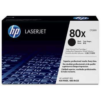 Toner Noir 6900 p. CF280X pour imprimante Laser HP - 0