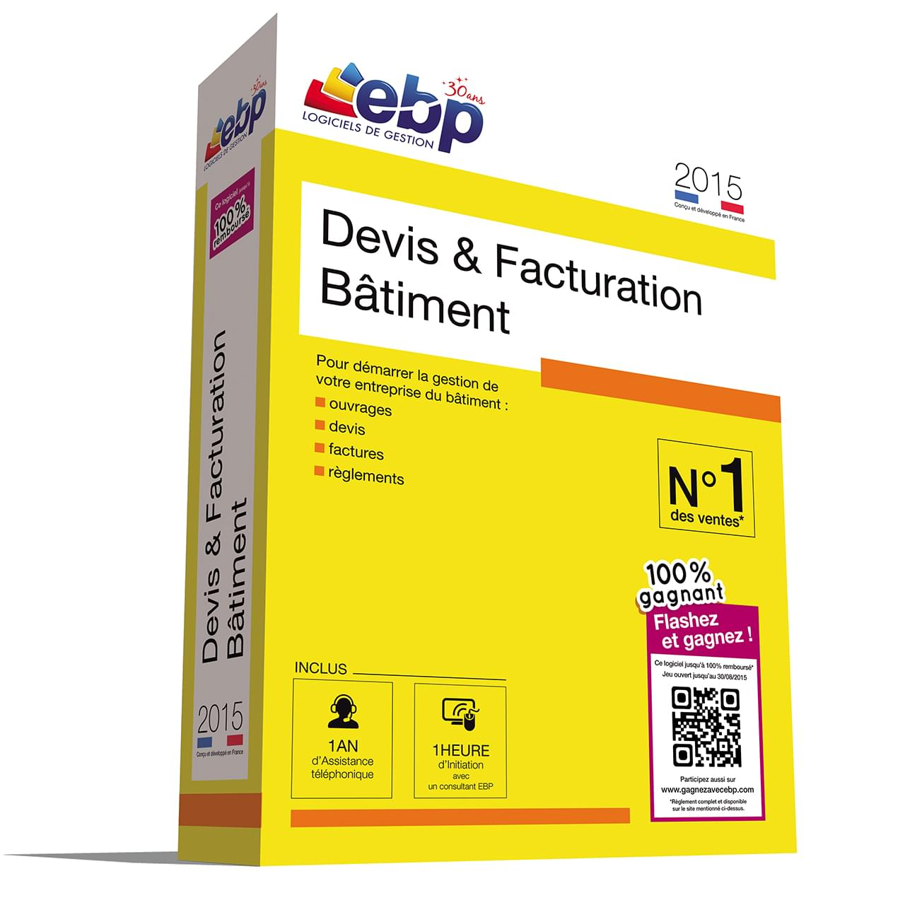 EBP Devis & Facturation Bâtiment 2015+VIP+100% Gagnant - Logiciel application - 0