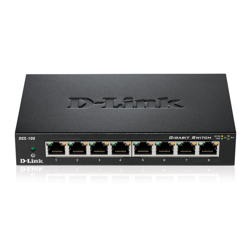 Switch D-Link DGS-108 8 (ports) 10/100/1000 - 0