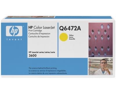 Toner Q6472A Jaune pour imprimante Laser HP - 0