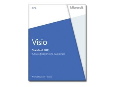 Microsoft Visio Standard 2013 (D86-04740) - Achat / Vente Logiciel application sur Cybertek.fr - 0