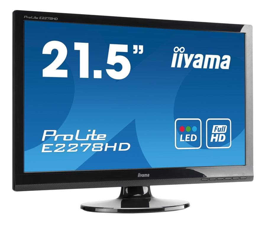 Iiyama E2278HD-GB1 (E2278HD-GB1 fdv->e2282) - Achat / Vente Ecran PC sur Cybertek.fr - 0